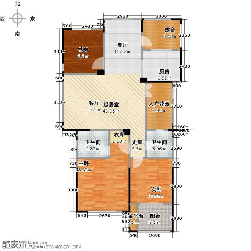 东海柠檬郡133.00㎡三期A7户型3室2厅2卫