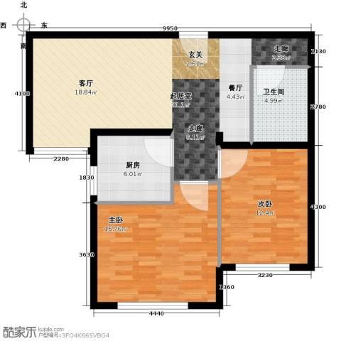 北京奥林匹克花园2室0厅1卫1厨73.00㎡户型图
