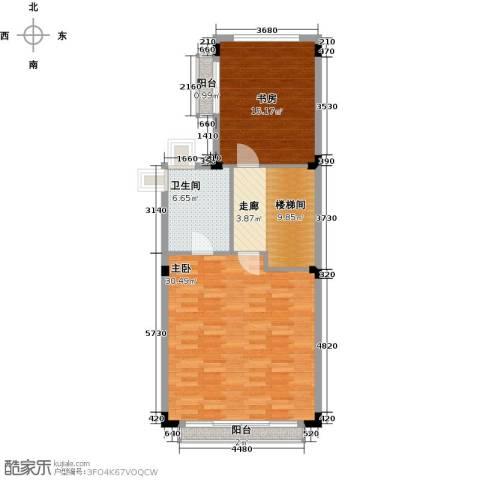 世纪城国际公馆香榭里2室0厅1卫0厨91.00㎡户型图