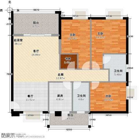 穗和城4室0厅2卫1厨122.00㎡户型图