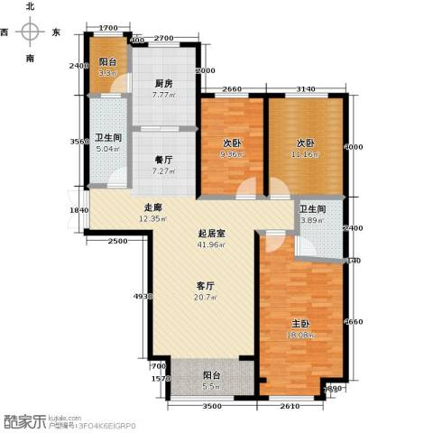 博雅园3室0厅2卫1厨141.00㎡户型图