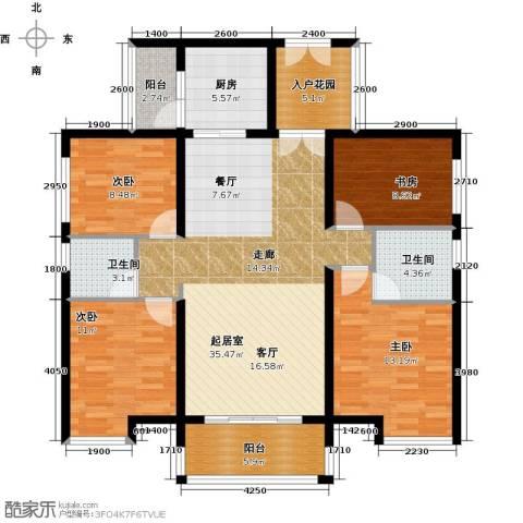 长隆珑翠4室0厅2卫1厨135.00㎡户型图