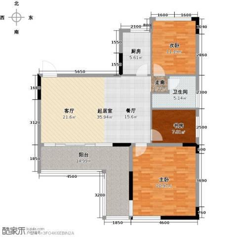 花都颐和山庄3室0厅1卫1厨113.00㎡户型图