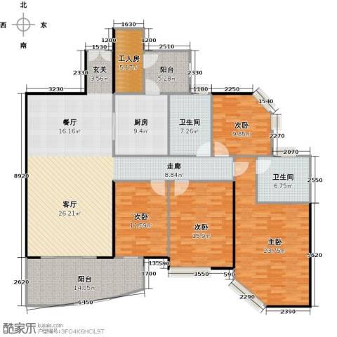东山紫园商业4室0厅2卫1厨187.00㎡户型图
