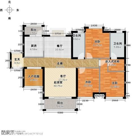 长隆珑翠3室0厅2卫1厨140.00㎡户型图
