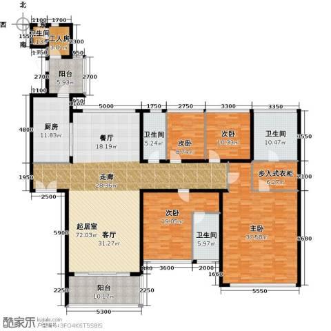 长隆珑翠4室0厅4卫1厨251.00㎡户型图
