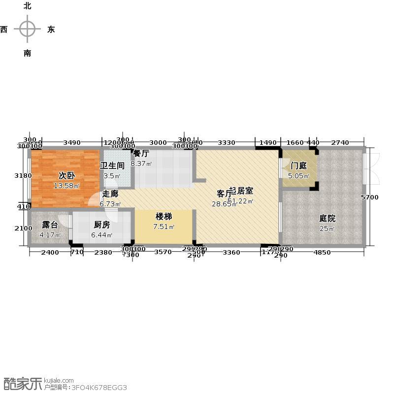 金科廊桥水乡110.72㎡联排L3-1层户型1室1卫1厨