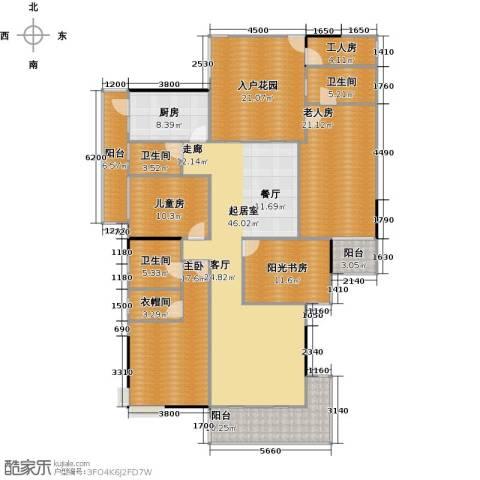 方圆花都小城之春3室0厅3卫1厨239.00㎡户型图