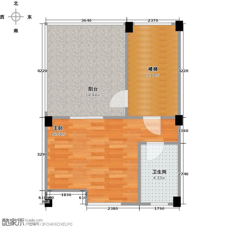 蜀山栖镇154.66㎡2010年12月在售-2期1批次D-3层户型1室1卫