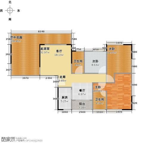 方圆花都小城之春3室0厅2卫1厨160.00㎡户型图