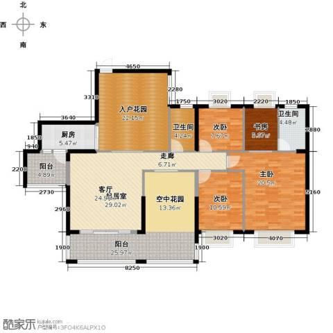 泊岸君庭4室0厅2卫1厨157.00㎡户型图