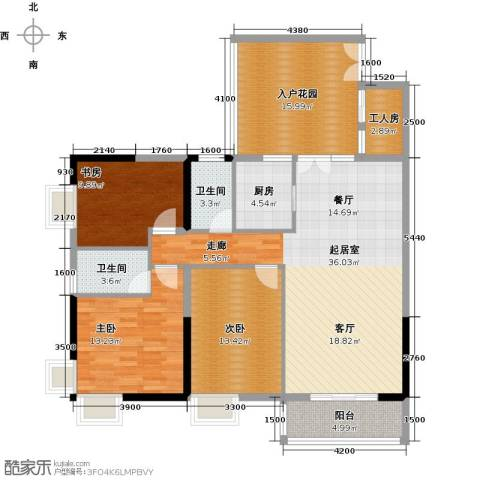 珠光高派国际公寓3室0厅2卫1厨149.00㎡户型图