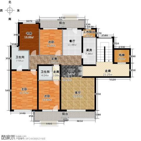 亿城西山华府4室0厅2卫1厨197.52㎡户型图