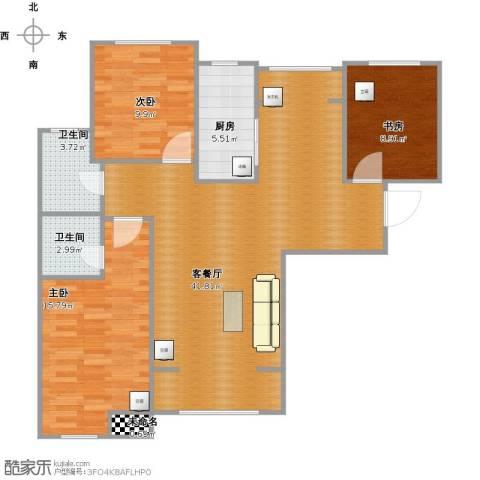 雍雅锦江3室1厅2卫1厨120.00㎡户型图