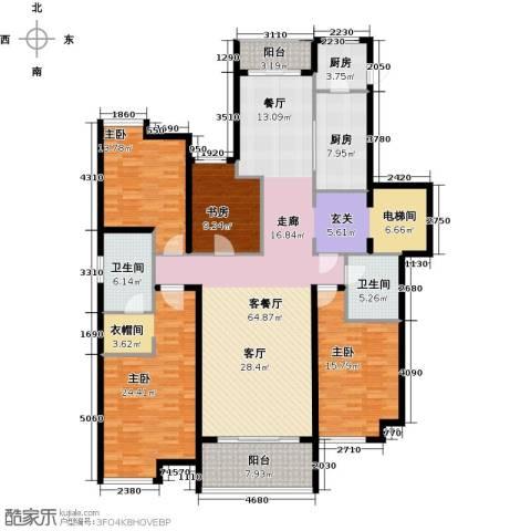 华润公元九里4室1厅2卫2厨227.00㎡户型图