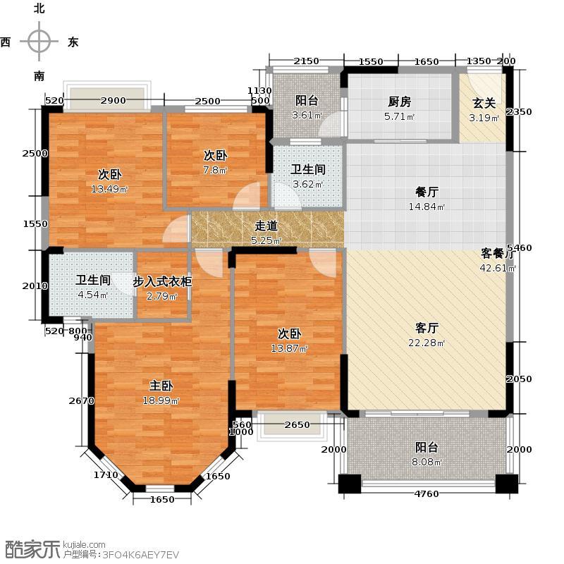 锦绣半岛162.00㎡9座03单位/11座07户型4室1厅2卫1厨