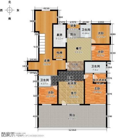 亿城西山华府4室0厅3卫1厨248.27㎡户型图