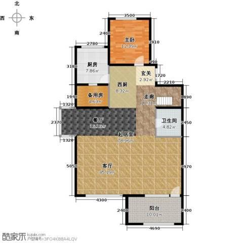 亿城西山华府1室0厅1卫1厨127.64㎡户型图