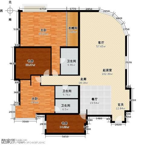 棕榈泉白金公寓4室0厅3卫0厨245.00㎡户型图