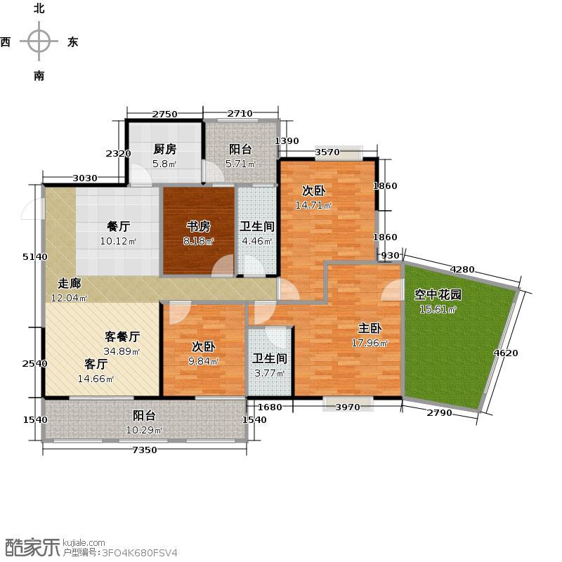 金泽豪庭143.04㎡豪华大户风范户型4室1厅2卫1厨
