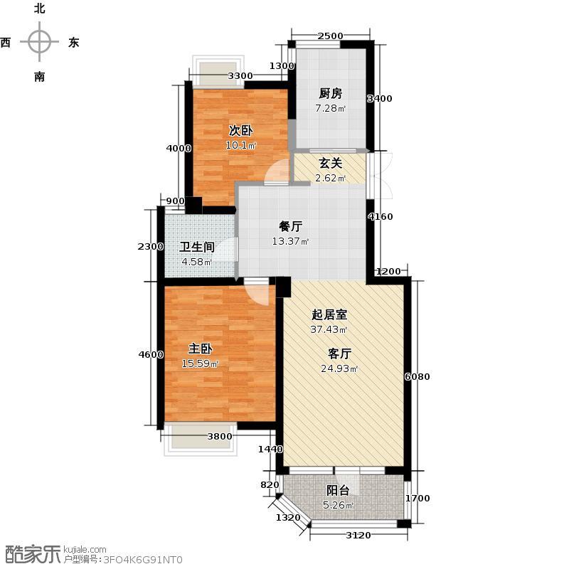 绿城丽江公寓90.69㎡丽江公寓户型10室