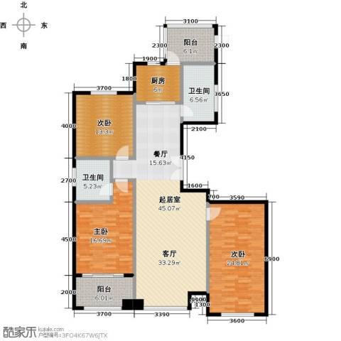 博雅园3室0厅2卫1厨170.00㎡户型图