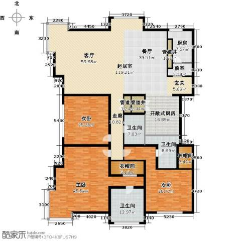 棕榈泉白金公寓3室0厅3卫1厨286.00㎡户型图