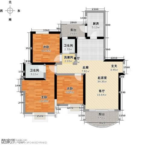 天邑宏御花园3室0厅2卫1厨129.00㎡户型图