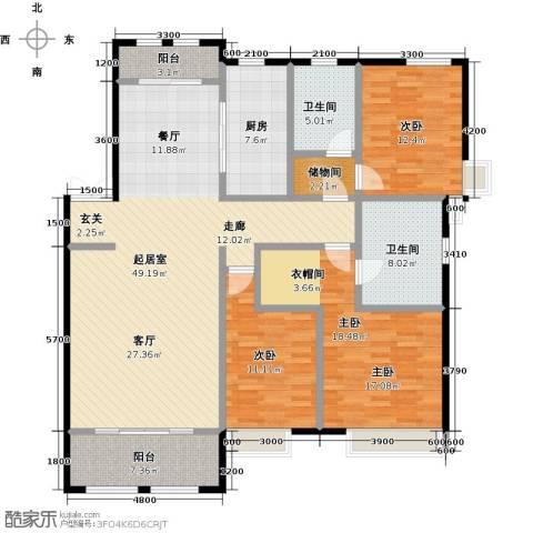 紫御府3室0厅2卫1厨159.00㎡户型图