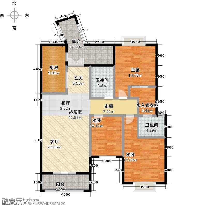 中粮香榭丽都140.00㎡2011年6月1期1批次1、3、4栋A1户型3室2卫1厨
