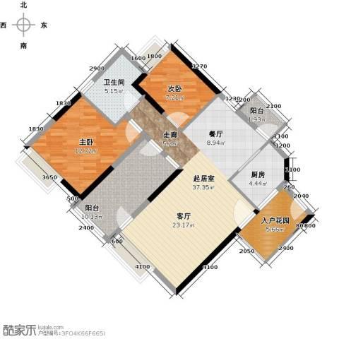 兰亭熙园2室0厅1卫1厨93.00㎡户型图