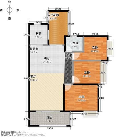 深业欧景城3室0厅1卫1厨121.00㎡户型图
