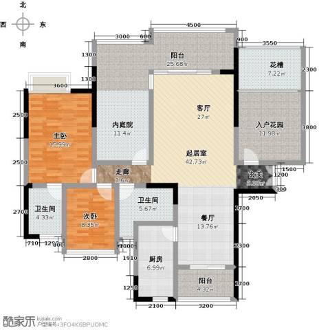 星星华园国际2室0厅2卫1厨155.00㎡户型图