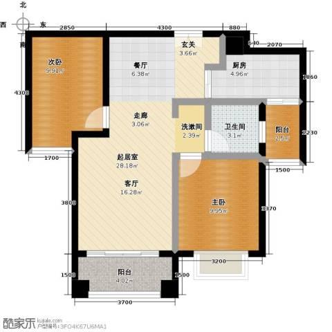 丰泰城市公馆2室0厅1卫1厨84.00㎡户型图