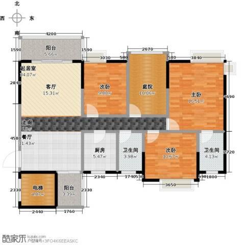 富山居花园3室0厅2卫1厨117.00㎡户型图