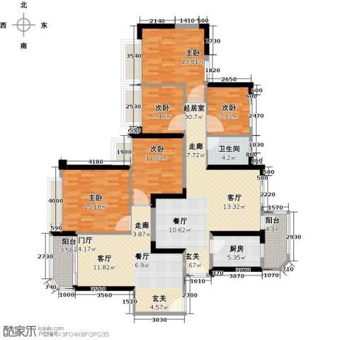 恒大海上夏威夷5室0厅1卫1厨126.60㎡户型图