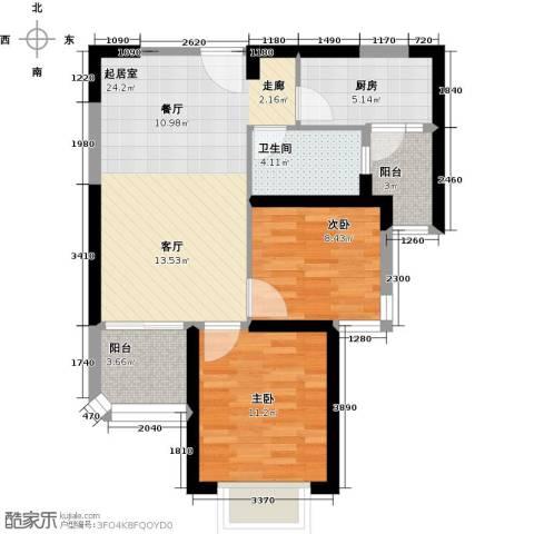 恒大海上夏威夷2室0厅1卫1厨87.00㎡户型图