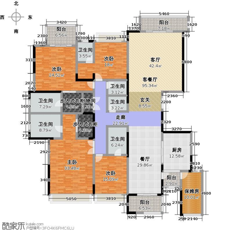 中海寰宇天下345.00㎡8、9、10幢户型6室3厅7卫