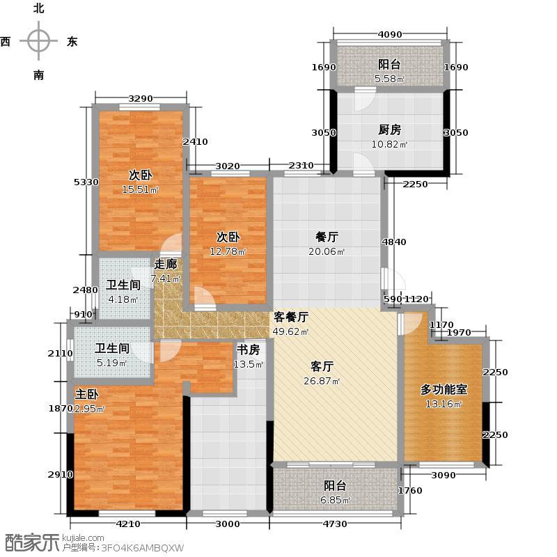 龙光天悦龙庭196.00㎡A1户型4室1厅2卫1厨
