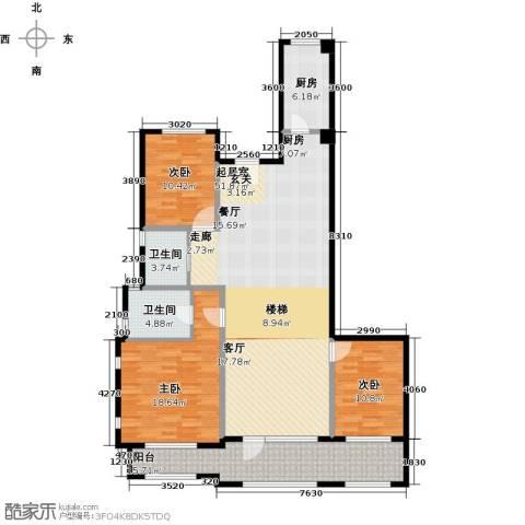 花墅香醍(龙湖・花盛香醍)3室0厅2卫1厨147.00㎡户型图