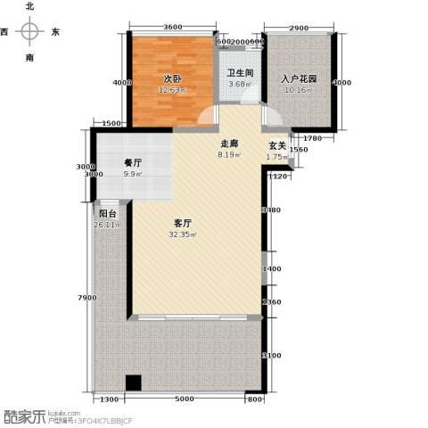 合正东部湾1室1厅1卫0厨115.00㎡户型图