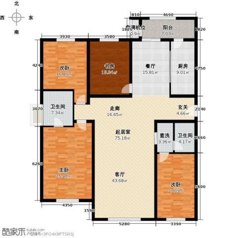 太阳星城3期4室0厅2卫1厨251.00㎡户型图
