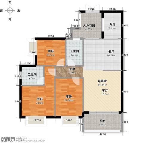 花都颐和山庄3室0厅2卫1厨108.00㎡户型图