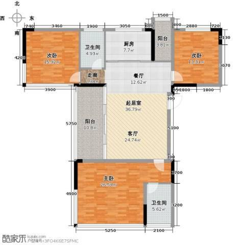 花都颐和山庄3室0厅2卫1厨142.00㎡户型图