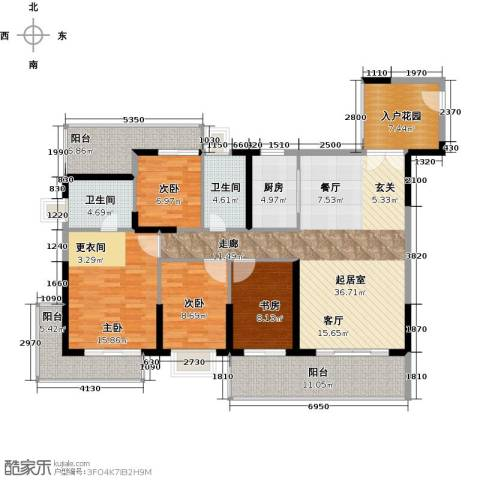 中珠・在水一方4室0厅2卫1厨172.00㎡户型图
