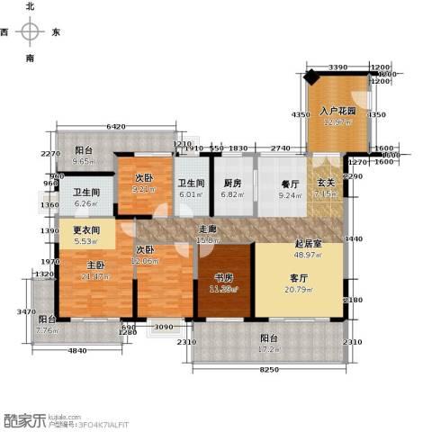 中珠・在水一方4室0厅2卫1厨169.68㎡户型图