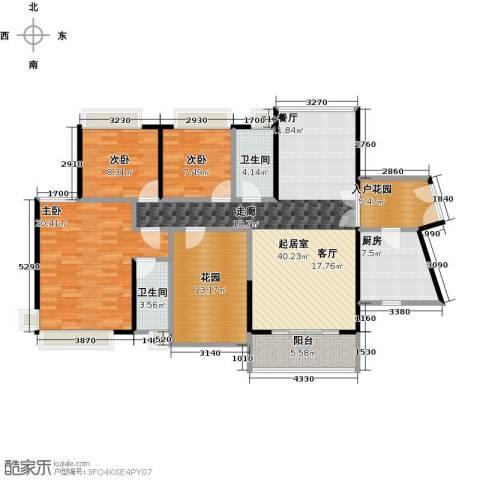 富山居花园3室0厅2卫1厨137.00㎡户型图