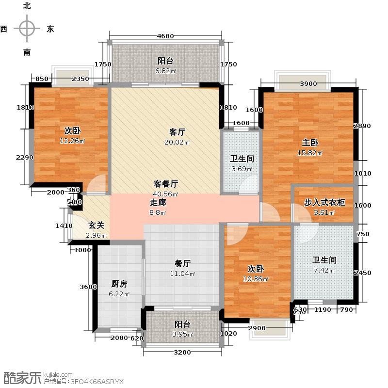 翡翠绿洲139.00㎡41栋0242栋01/02户型3室1厅2卫1厨