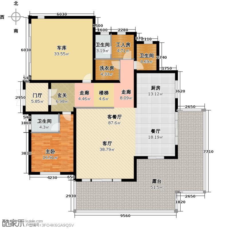 锦绣钱塘238.73㎡一层户型10室
