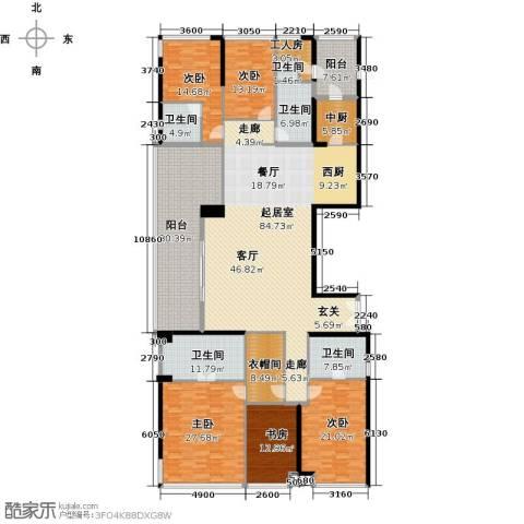 华侨城锦绣花园四期5室0厅5卫0厨310.00㎡户型图